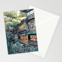 100 years old Inn in Minoh Stationery Cards