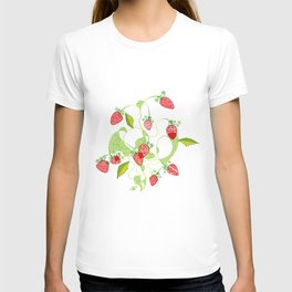 Patterned Strawberries T-shirt