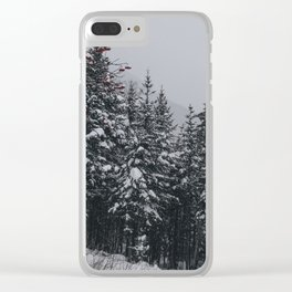 Winter at Lonesome Lake Clear iPhone Case