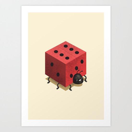 Ladiebug Art Print