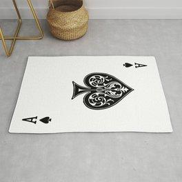 Ace Spades Spade Playing Card Game Minimalist Design Rug