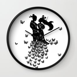 The Butterfly Lovers Wall Clock