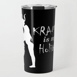 Krampus is my Holibae White Travel Mug