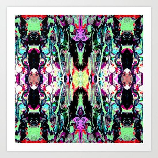 Internal Kaleidoscopic Daze- 18 Art Print
