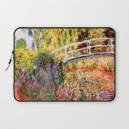 "Claude Monet ""Water lily pond, water irises"" Laptop Sleeve"