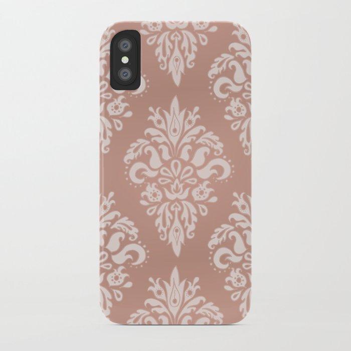 Rose Gold Vintage Pattern iPhone Case