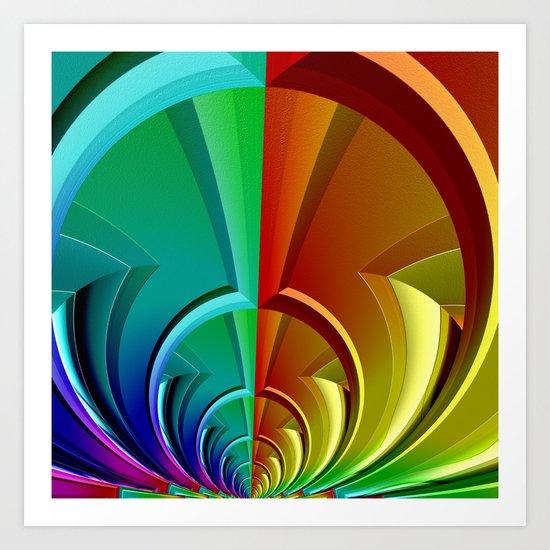 Multicolored Symmetry Art Print
