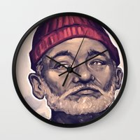 zissou Wall Clocks featuring Zissou by Dale C Bowers