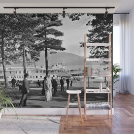 Vintage Lake George: The Sagamore Docks at Green Island Wall Mural