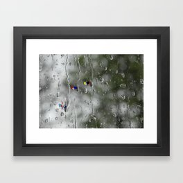 Rain racers Framed Art Print
