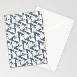 Triangle Optical Illusion Gray Dark Stationery Cards