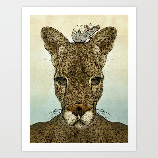 Roo and Tiny Art Print