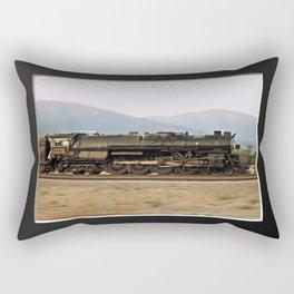 Steam Train Locomotive. Santa Fe 3751. © J. Montague. Rectangular Pillow