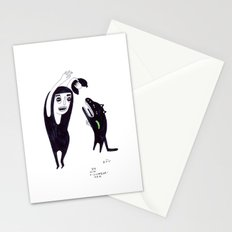 Dog with a cucmberarm Stationery Cards