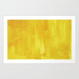 Brushed Yellow Art Print