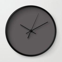 Warm Dark Gray Solid Color Parable to Valspar Blackstrap 4001-2c Wall Clock