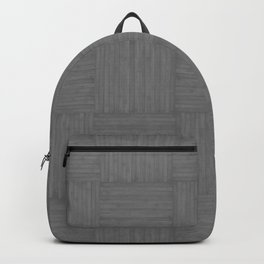 Gray Faux Bois Wood Pattern Backpack