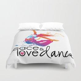 Peace & love Dance Duvet Cover