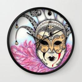 Máscara Veneciana Wall Clock