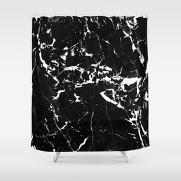 textured marble Shower Curtain