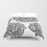 doodle Duvet Covers featuring DOODLE  by Aysha AlShamsi