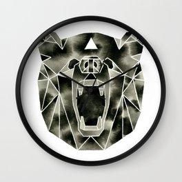 Fractured Geometric Bear Wall Clock