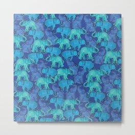 Blue Ellie Metal Print