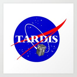 Tardis Parody Art Print
