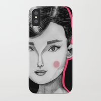 audrey hepburn iPhone & iPod Cases featuring Audrey Hepburn by Maripili
