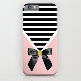 The Envelope: Bow + Stripe iPhone Case
