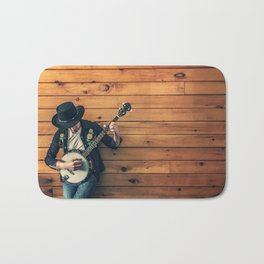 Banjo Player Bath Mat