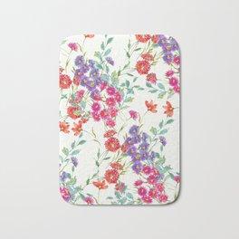 fresh floral spring scatter Bath Mat