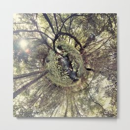 ROUND FOREST Metal Print