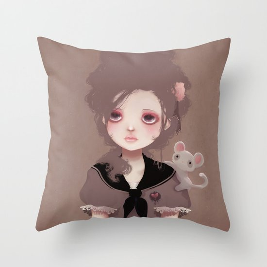 Emma (2011 version) Throw Pillow