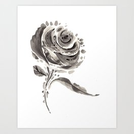 Blooming Rose Art Print