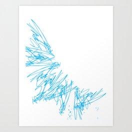 Scratchy scratch Art Print