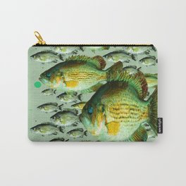 GREENISH  SEA BASS FISHING GRAPHIC Carry-All Pouch