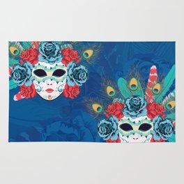 Carnival face mask Rug