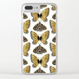 Golden Butterfly & Moth Clear iPhone Case