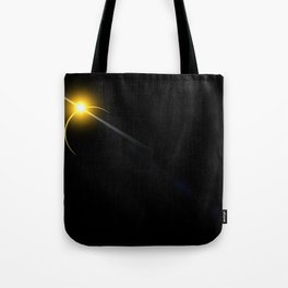 yellow lens flare Tote Bag