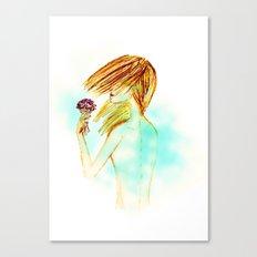 Feeling the wind Canvas Print