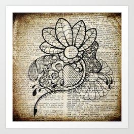 Square Floral Art Print