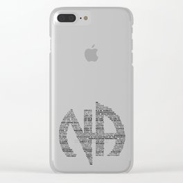 Narcotics Anonymous Symbol in Slogans Clear iPhone Case