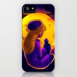 Peach Under the Moon iPhone Case