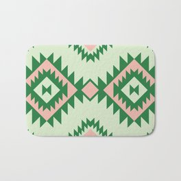 Navajo motif with watermelon pallet Bath Mat