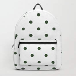 Polka Dots Pattern: Pine Green Backpack
