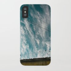 Doves and Wire#2 Slim Case iPhone X