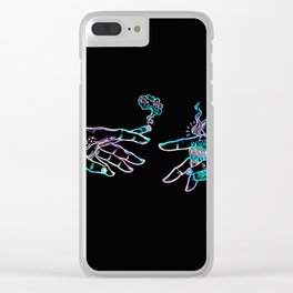 the Creation of Cannabis- holographic Clear iPhone Case