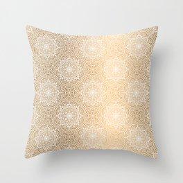 Gold Mandala 18 Throw Pillow