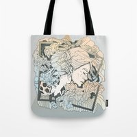 frames Tote Bags featuring BROKEN FRAMES by Cassidy Rae Marietta